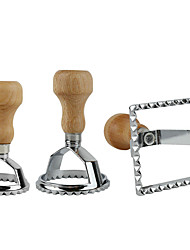 Недорогие -Комплект штемпелей равиоли классический резец равиоли производитель с деревянной ручкой макароны плесень резак кухонный инвентарь