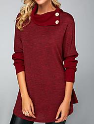 abordables -Tee-shirt Femme, Couleur Pleine Vin