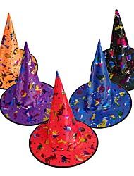 Недорогие -1 шт. Украшение партии взрослых женщин прохладно черная шляпа ведьмы для хэллоуин костюм аксессуар черный хэллоуин шляпа аксессуары