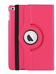 Недорогие -Кейс для Назначение Apple iPad Mini 4 Магнитный / Авто Режим сна / Пробуждение Чехол Однотонный Кожа PU / ТПУ