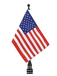 Недорогие -Мотоцикл задний американский сша флагшток украшения для харли xl883 1200 x48 комплект тип черный флагшток флаг количество количество2 комплектов