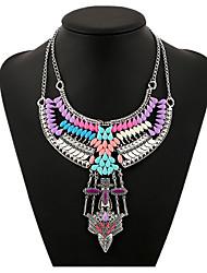 billige -Dame Halskjede geometriske Blomst Bohemsk Zirkonium Chrome Regnbue 45+5 cm Halskjeder Smykker 1pc Til Daglig
