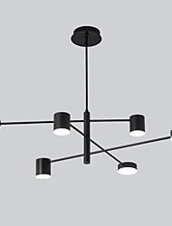 Недорогие -6 светодиодных промышленных люстр / рассеянный свет, окрашенный в черный цвет для гостиной спальни 110-120 В / 220-240 В / теплый белый / белый