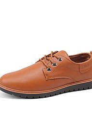 baratos -Homens Sapatos Confortáveis Couro Ecológico Verão Oxfords Preto / Amarelo