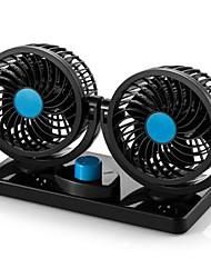 Недорогие -12v / 24v двойная головка 360 градусов вращающиеся вентиляторы автомобиля сильный ветер малошумный вентилятор охлаждения кондиционера