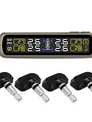 Недорогие -t881 датчик tpms система контроля давления в шинах универсальная беспроводная система отображения в реальном времени 4 давления в шинах tpms (встроенная)