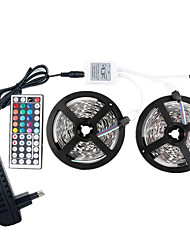 Недорогие -светодиодные фонари 12v smd 5050 rgb 10m светодиодные ленты светодиодные ленты многоцветные с дистанционным управлением с 44 клавишами 300 светодиодных не водонепроницаемых световых полос с драйвером