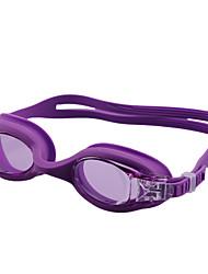 Недорогие -плавательные очки Водонепроницаемость Противо-туманное покрытие Регулируемый размер УФ-защита По предписанию врача Зеркальный силикагель Поликарбонат черный синий Светло-синий