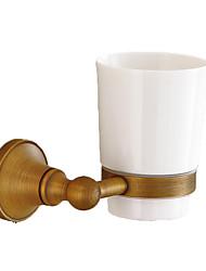 Недорогие -Держатель для зубных щеток Креатив / Многофункциональный Античный / Традиционный Латунь / Нержавеющая сталь / Керамика Ванная комната На стену