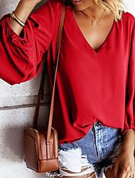 billige -T-skjorte Dame - Ensfarget Grunnleggende Svart