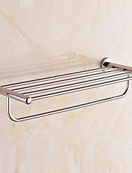 billige -Hylle til badeværelset Kreativ / Multifunktion Moderne Rustfritt Stål 1pc Vægmonteret