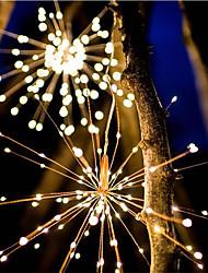 Недорогие -Водонепроницаемый 40 веток 200led солнечной энергии висит огни звездообразования светодиодные фейерверки лампы светодиодные метлы медный провод теплый белый фонарь творческий праздник фестиваль декора