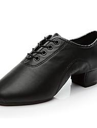 billige -Gutt / Jente Dansesko Fuskelær Moderne sko / Salsasko / Sambasko Oxford / Høye hæler Tykk hæl Kan spesialtilpasses Svart