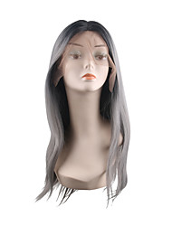 cheap -Synthetic Lace Front Wig Natural Straight Style Middle Part Lace Front Wig Synthetic Hair 28 inch Women's Adorable / Best Quality / Hot Sale Black Wig Long Natural Wigs