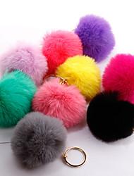 Недорогие -Брелок Шарообразные корейский Милая Мода Модные кольца Бижутерия Черный / Светло-синий / Светло-Розовый Назначение Подарок Повседневные