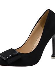 abordables -Femme Chaussures à Talons Talon Aiguille Bout pointu Polyuréthane Minimalisme Automne Noir / Vin