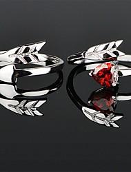abordables -Couple Couple d'alliance / Bague / Anneaux 1pc Argent / Rouge Cuivre Circulaire Basique / Coréen / Mode Mariage / Fiançailles / Promettre Bijoux de fantaisie