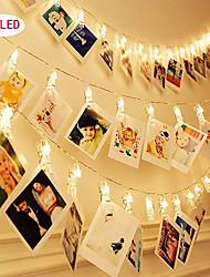 お買い得  -1ピース写真コラージュクリップ文字列ライト3メートル20leds装飾結婚式寝室ウォールディスプレイ妖精写真ライトぶら下げ写真カード