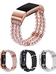 Недорогие -ремешок для часов для зарядки fitbit 2 / зарядки fitbit 3 fitbit ювелирный дизайн браслет из нержавеющей стали