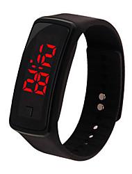 Недорогие -Муж. электронные часы Цифровой Спортивные Стильные Pезина Черный / Красный / Зеленый Нет Светодиодная лампа Повседневные часы Цифровой На каждый день Мода - Черный Белый Пурпурный / Один год