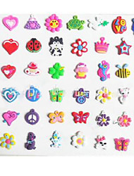 Недорогие -20pcs DIY twistz силикон Bandz резинки браслеты кулоны украшения цвета радуги ткацкий станок стиль для детей