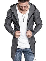billige -Herre Grunnleggende Hoodie Jacket Ensfarget