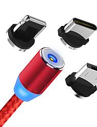 Недорогие -магнитный USB-кабель быстрая зарядка USB-кабель типа c магнит зарядное устройство для зарядки данных микро-USB-кабель мобильный телефон кабель USB-кабель