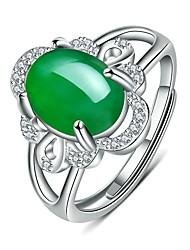 Недорогие -Жен. Кольцо Открытое кольцо 1шт Красный Зеленый Медь Круглый Классический корейский Мода Подарок Повседневные Бижутерия