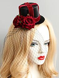 Недорогие -Жен. Винтаж модный Мода Ткань Сплав шляпа Заколки для волос Halloween Для клуба