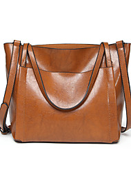 abordables -Femme Fermeture Polyester / PU Cabas Marron