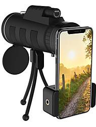 Недорогие -объектив телефона 40x60 зум монокуляр телескоп сфера камера отдых на природе рыбалка объектив с компасом телефон клип штатив