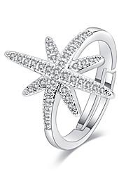 abordables -Femme Bague / Anneaux 1pc Argent Cuivre Circulaire Basique / Coréen / Mode Cadeau Bijoux de fantaisie