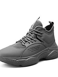 Недорогие -Муж. Комфортная обувь Полиуретан Лето Спортивные Для фитнеса Черный / Бежевый / Серый
