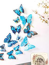 billige -dyr dobbeltlags vegg klistremerker 3d vegg klistremerker dekorative vegg klistremerker lys bryter klistremerker kjøleskap klistremerker bryllup klistremerker PVC hjemme - blå