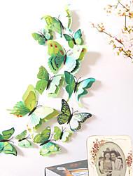 billige -dyr dobbeltlags vegg klistremerker 3d vegg klistremerker dekorative vegg klistremerker lys bryter klistremerker kjøleskap klistremerker bryllup klistremerker PVC Hjem - grønn