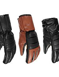 Недорогие -7.4 В кожаные водонепроницаемые электрические перчатки с подогревом батареи мотоцикла зимой теплее
