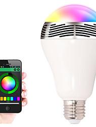 Недорогие -BL05 светодиод RGB цвет лампы E27 Bluetooth управления музыка аудио спикер лампы футуристический цифровой