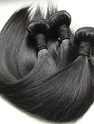 """Недорогие -3 Связки Бразильские волосы Прямой Не подвергавшиеся окрашиванию Необработанные натуральные волосы Человека ткет Волосы 10""""~28"""" Нейтральный Ткет человеческих волос"""