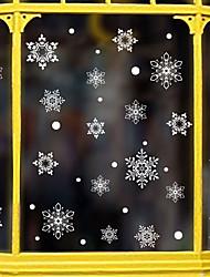 billige -julen snøfnugg vindu film& klistremerker dekorasjon tegneserie / jul geometrisk / blomst / blomster / ferie pvc (polyvinylklorid) vindu klistremerke / dør klistremerke / søt