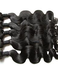 """Недорогие -5 Связок Бразильские волосы Естественные кудри Не подвергавшиеся окрашиванию Необработанные натуральные волосы Человека ткет Волосы 10""""~28"""" Нейтральный Ткет человеческих волос"""