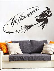 billige -halloween heks pvc veggklistremerker - plane veggklistremerker transport / landskapsstudierom / kontor / spisestue / kjøkken