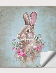 Недорогие -С картинкой Роликовые холсты - Абстракция Животные Modern Репродукции