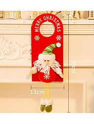 Недорогие -Рождественские открытки и наклейки Рождественский декор Снеговик текстильный деревянный Взрослые Игрушки Подарок