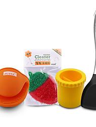 Недорогие -Полный силикон для тела Наборы посуды Портативные Кухонная утварь Инструменты 1 комплект