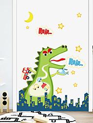 billige -tegneserie dinosaur pvc veggklistremerker - fly vegg klistremerker transport / landskap studierom / kontor / spisestue / kjøkken