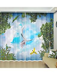 billige -papegøye blå himmel digital utskrift kreative 3d gardin skygge gardin høy presisjon svart silke stoff høy kvalitet førsteklasses skygge gardin