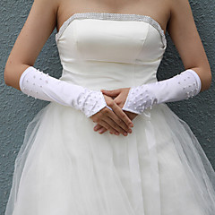 cheap Party Gloves-Cotton Wrist Length Glove Charm Stylish Bridal Gloves Party/ Evening Gloves With Embroidery Solid