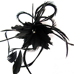 Women's Feather Headpiece-Wedding Special Occasion Casual Outdoor Fascinators Flowers