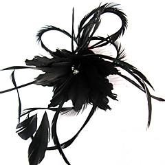 Γυναικείο Φτερό Headpiece-Γάμος Ειδική Περίσταση Καθημερινά Υπαίθριο Διακοσμητικά Κεφαλής Λουλούδια