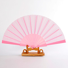 "billige Vifter og Parasoller-Silke Vifter og parasoller-# Deler / Sett Håndvifter Hage Tema Klassisk Tema Rosa 16 1/2""x9""x 3/4""(42cmx23cmx1cm)1""x9""x"